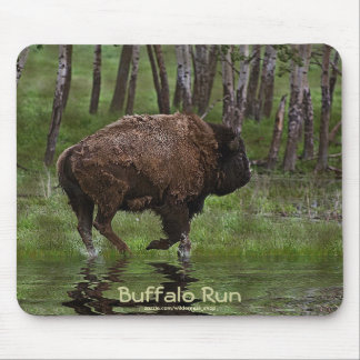 American Plains Buffalo Bison Bovine Art Mousepad