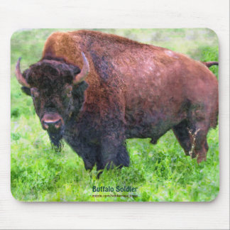 American Plains Buffalo Bison Bull Art Mouse Pad