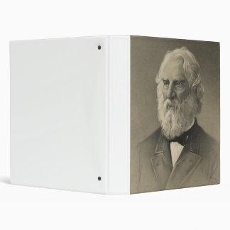American Poet Henry Wadsworth Longfellow Portrait 3 Ring Binder