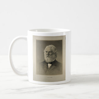 American Poet Henry Wadsworth Longfellow Portrait Classic White Coffee Mug