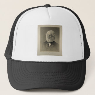 American Poet Henry Wadsworth Longfellow Portrait Trucker Hat