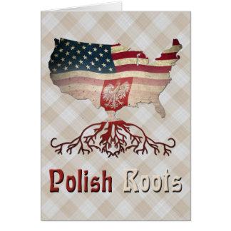 American Polish Roots Card