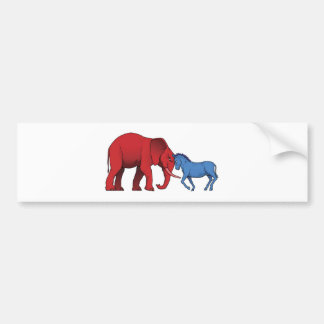 American political parties stand-off bumper stickers