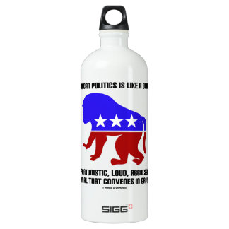 American Politics Is Like A Baboon Saying Aluminum Water Bottle