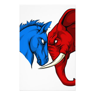 American Politics Republican Versus Democrat Stationery