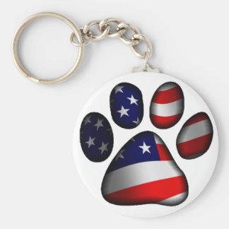 American Pooch Basic Round Button Keychain