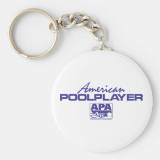 American Pool Player - Blue Keychain