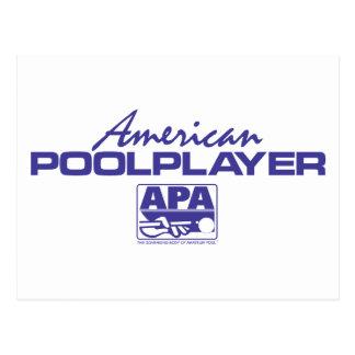 American Pool Player - Blue Postcard