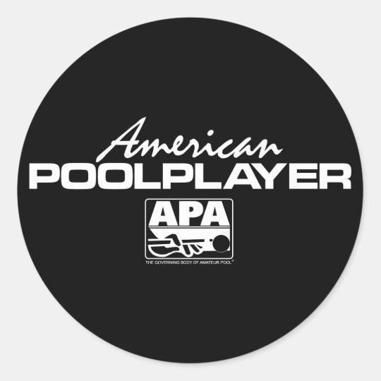 American Pool Player Classic Round Sticker