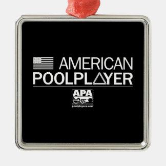 American Pool Player Metal Ornament