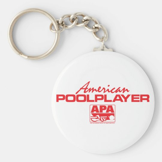 American Pool Player - Red Keychain