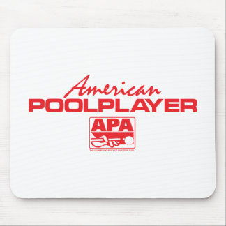 American Pool Player - Red Mouse Pad