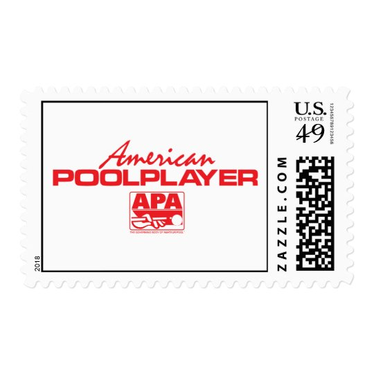 American Pool Player - Red Postage