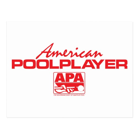 American Pool Player - Red Postcard
