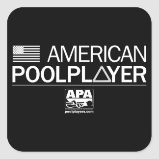 American Pool Player Square Sticker