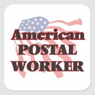 American Postal Worker Square Sticker