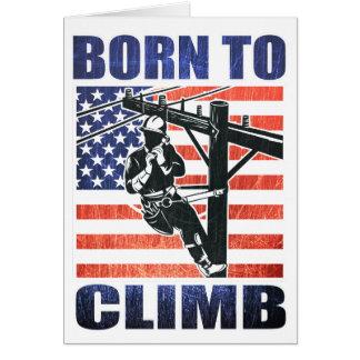 american power lineman electrician repairman pole cards