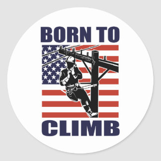 american power lineman electrician repairman pole stickers