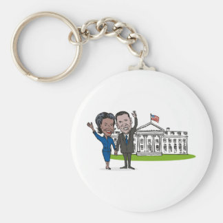 American President Barack and Michelle Obama Key Chains