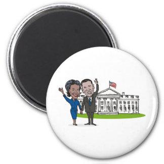 American President Barack and Michelle Obama Fridge Magnet
