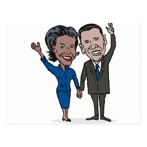 American President Barack and Michelle Obama Postcard