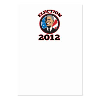 American President Barack Obama 2012 Business Card Template