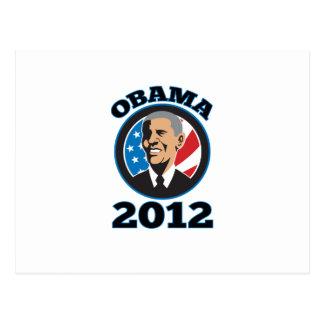 American President Barack Obama 2012 Postcard