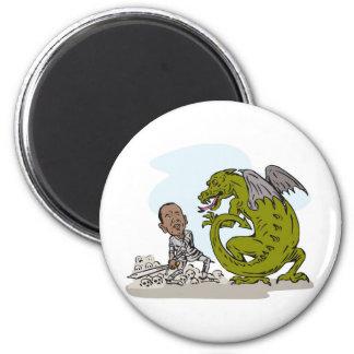 American President Barack Obama Knight Dragon Magnet