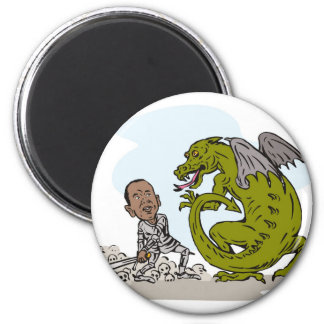 American President Barack Obama Knight Dragon Refrigerator Magnets