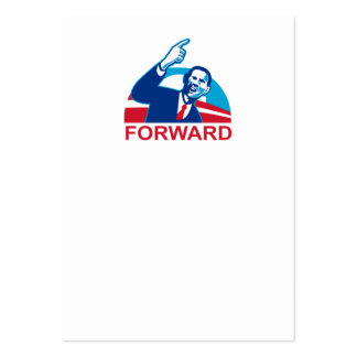 American President Barack Obama pointing forward Business Cards