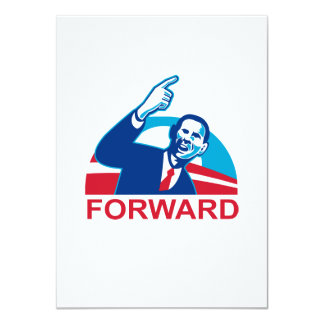 American President Barack Obama pointing forward 4.5x6.25 Paper Invitation Card