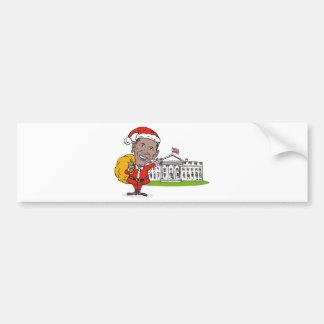 American President Barack Obama Santa Claus Bumper Sticker