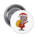 American President Barack Obama Santa Claus Pinback Button