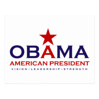 American President -Obama Postcard