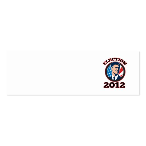 American Presidential Candidate Mitt Romney retro Business Card Template