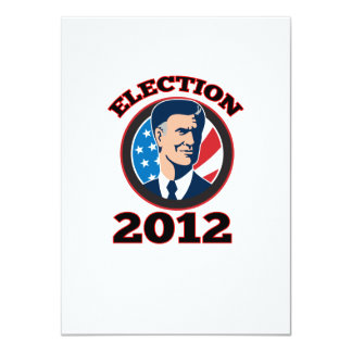 American Presidential Candidate Mitt Romney retro 4.5x6.25 Paper Invitation Card