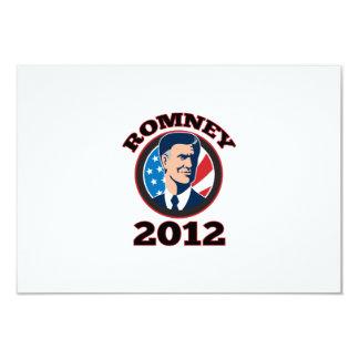 American Presidential Candidate Mitt Romney retro 3.5x5 Paper Invitation Card