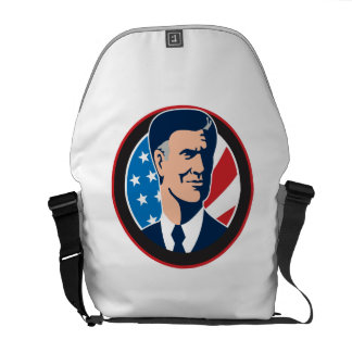 American Presidential Candidate Mitt Romney retro Commuter Bags