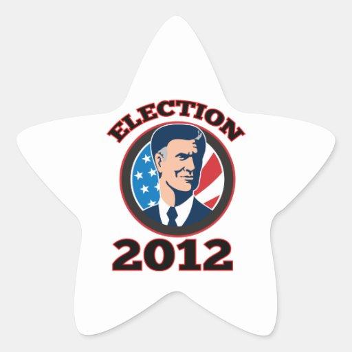 American Presidential Candidate Mitt Romney retro Sticker