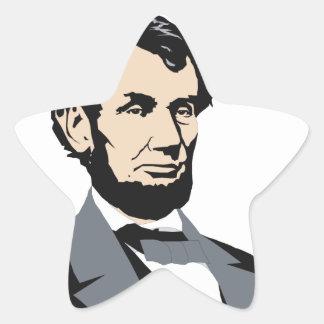 American Presidents: Abraham Lincoln 1861-1865 Star Sticker