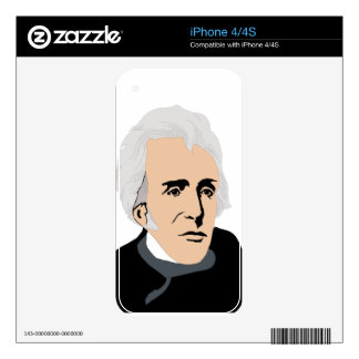 American Presidents: Andrew Jackson  1829 - 1837 Decals For The iPhone 4