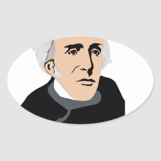 American Presidents: Andrew Jackson  1829 - 1837 Oval Stickers