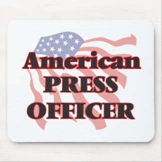 American Press Officer Mouse Pad