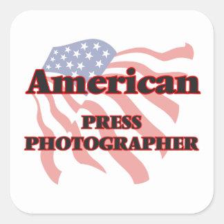 American Press Photographer Square Sticker