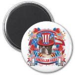 American Pride Boston Terrier Fridge Magnet