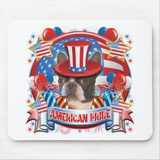 American Pride Boston Terrier Mousepad
