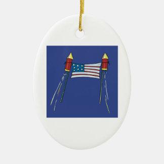 American Pride Ceramic Ornament