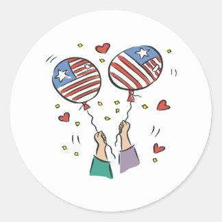 American Pride Classic Round Sticker