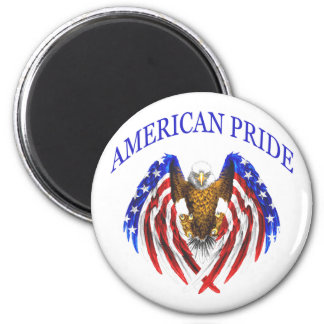 American Pride Eagle 2 Inch Round Magnet