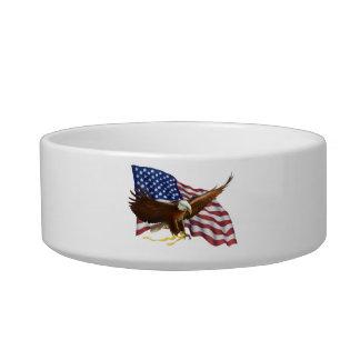 AMERICAN PRIDE EAGLE AND FLAG BOWL